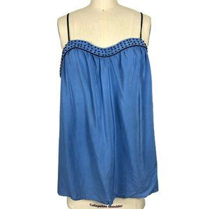 PINS AND NEEDLES Racerback Beads Trim Blouse L